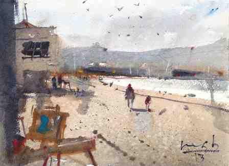 'Lyall Bay' by Michael Bennett (SOLD)