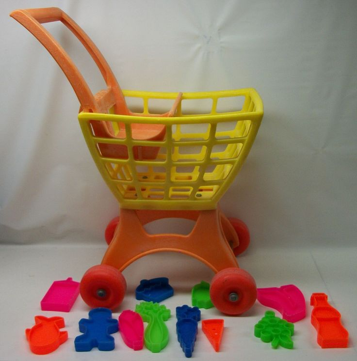 Mattel Tuff Stuff Shopping Cart and Food ~ i had this....i would pretend i was shopping and i had a play cash register and i'd ring up the sale too...using play money of course lol