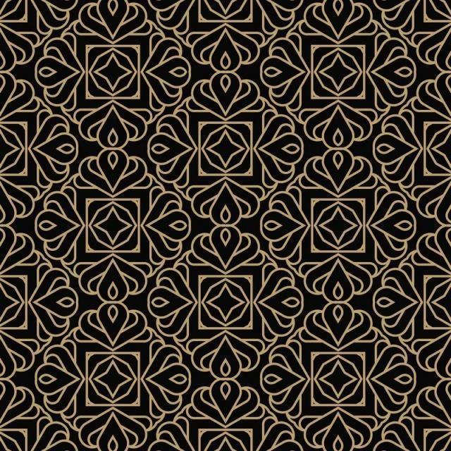 Geometric Line Ornament Seamless Pattern Modern Minimalist Style