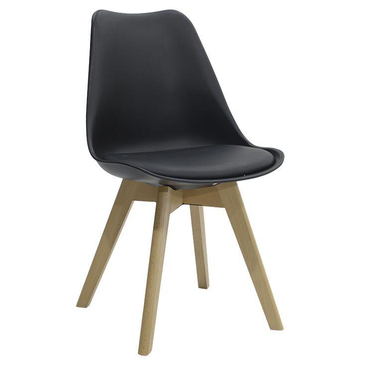 Propylene chair Gaston PU black
