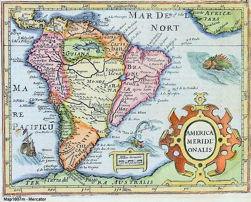 Best Mapas Antiguos America Images On Pinterest Old Maps - South america map in spanish