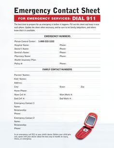IF YOU HAVE CHILDREN print this out! have one in your car, the diaper bag, stuck on the fridge!!!!    I was with my nephews when an emergency struck and they had just moved into a new home a week before, I couldn't call the ambulance because I didn't know the address yet.   This saved us in the future. I think you don't think twice about emergencies when family is involved but no matter who is with you kids, this list is a MUST!