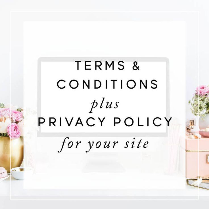 Terms & Conditions & Privacy Policy For Your Website (GDPR