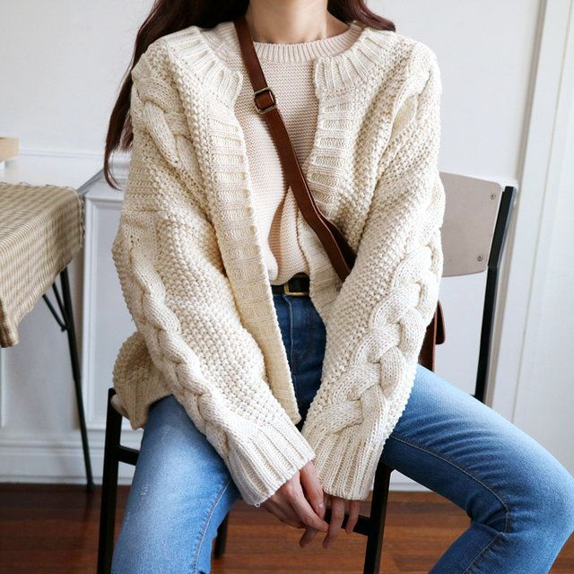 #korean, #fashion, #knit, #cardigan, #ootd
