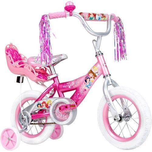 Disney Princess Girls Bike Training Wheels Bell Doll Carrier 12 Inch Wheels Gift #Huffy