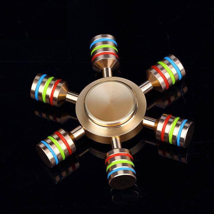 Mosiężny Spinner - Ster - Kolorowy //Cena: $40.00 & Zawsze darmowa dostawa! //     #SpinnerLandia