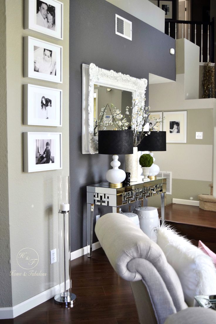 Gray interior paint color schemes - This Mirrored Table From Homegoods Makes Every Room Look A Little More Elegant Wall Color Combinationpenthouse