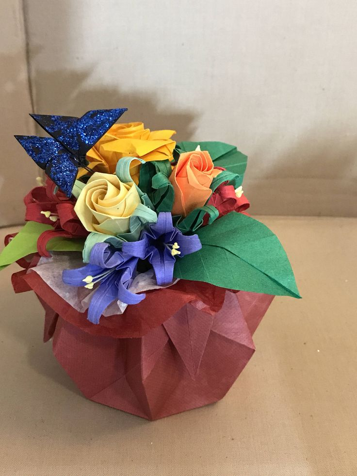 64 best Origami Flower Bouquet images on Pinterest | Etsy, Floral ...