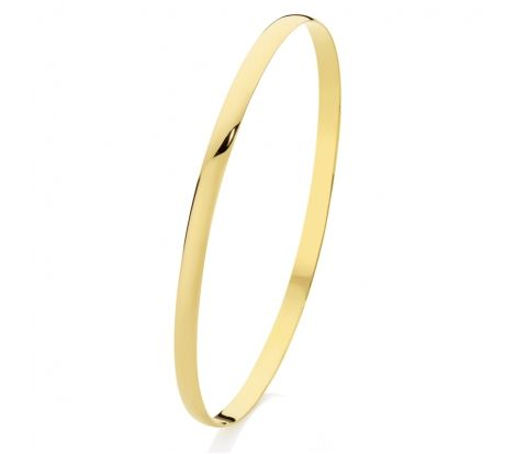 A Gold Bangle is a great choice of jewellery when you want simplicity. This 9ct yellow gold silver filled 4mm x 65mm bangle will do the job superbly.