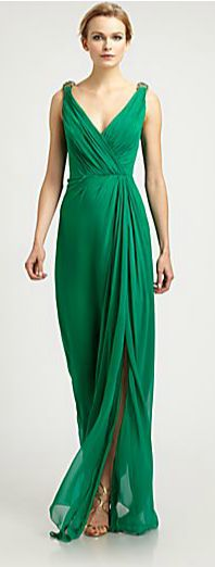 Evening dress green 01