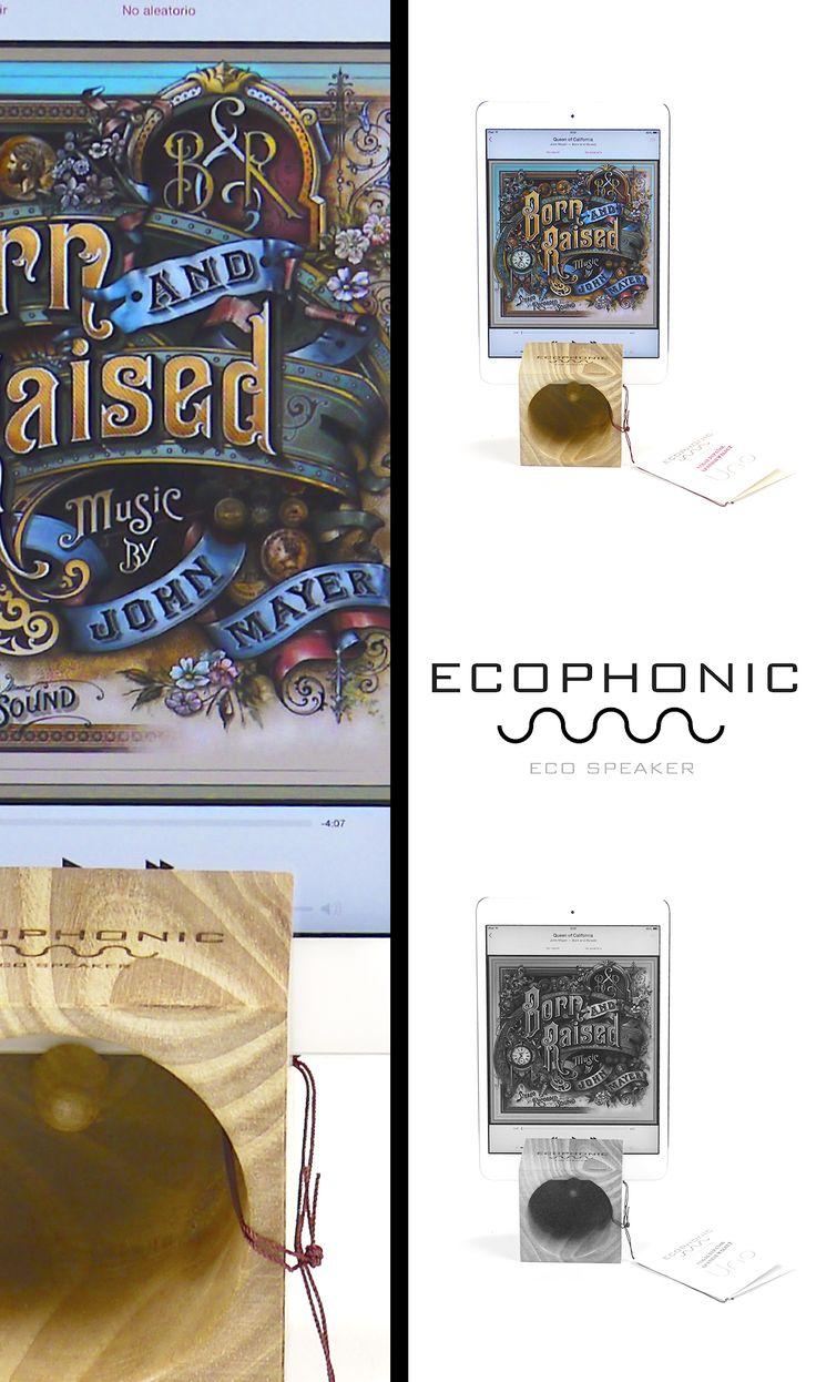ecologic speaker for ipad and ipad mini. Spanish original design #originalsound