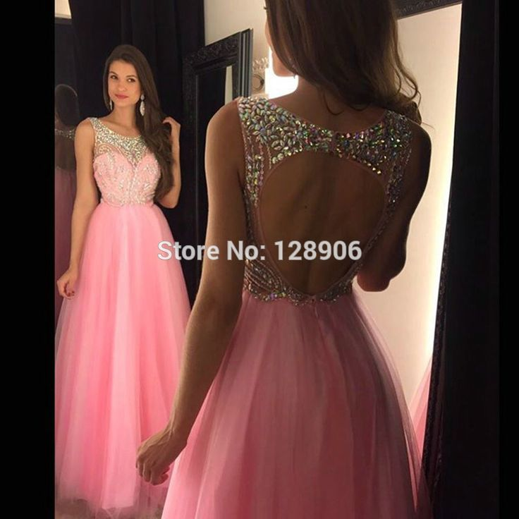 Find More Prom Dresses Information about 2016 Popular Pink Prom Dresses Beaded Open Back Vestidos De Festa Elegant Vestido Longo Formatura Custom Made Long Evening Dress,High Quality dress gray,China dress deb Suppliers, Cheap dresses for bigger girls from Babyzone on Aliexpress.com