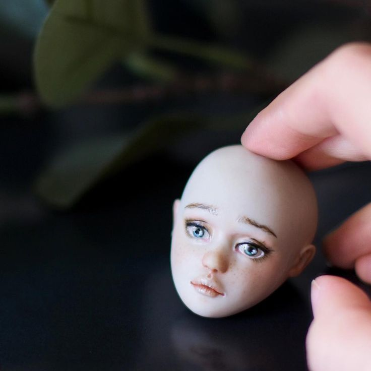 Painting porcelain BJD with china paints. Ball jointed doll making progress by Nymphai Dolls