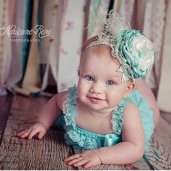 Mint To Be - Vintage Style Over the Top Headband
