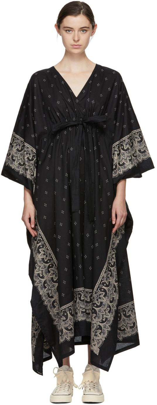 Visvim Black Kaftan Bandana Dress