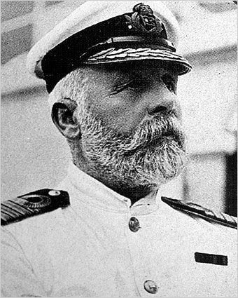 Capt. Edward John Smith. Captain of the doomed Titanic. Sept 20 1911, he was responsible for crashing the 'Olympic' into HMS Hawke, a Royal Navy cruiser. Both boats were buggered. Smith was then promoted to the far larger 'Titanic'. Perhaps he isn't really the idiot here...