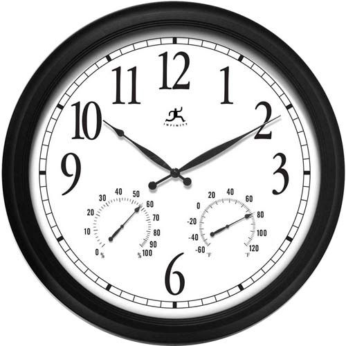 The Definitive In/Outdoor Wall Clock Infinity Instruments Temperature & Weather Clocks Ho