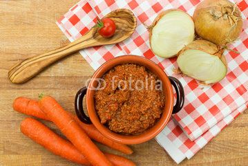 ragout sauce with ingredients