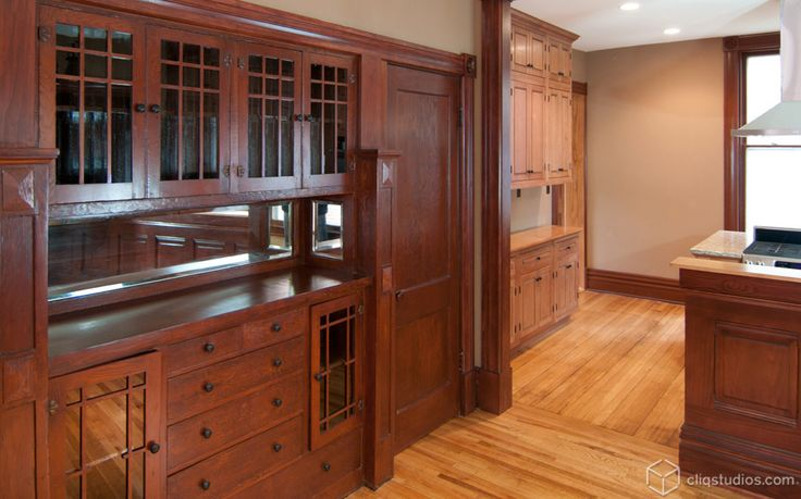 127 best craftsman and period style images on pinterest for Kitchen built in cabinets