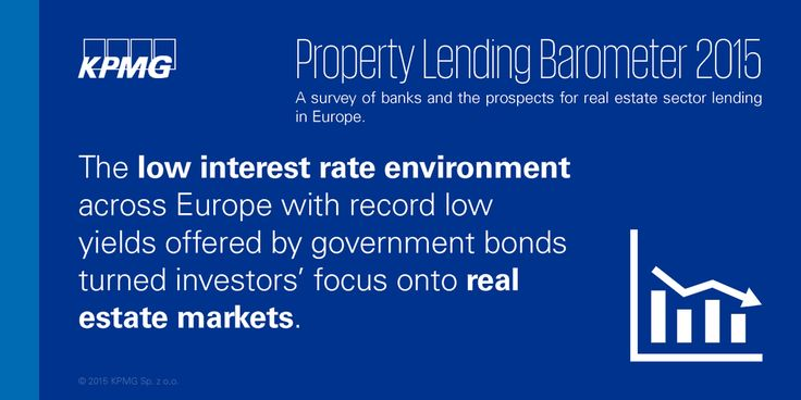 Low interest rates and government bond yields turned #investors focus onto #realestate #KPMG #Property #KPMGPoland #Poland