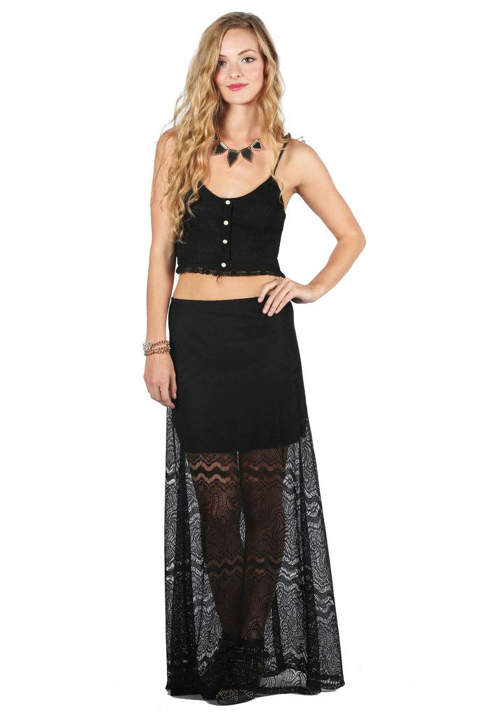 Peek a Boo Lace Skirt