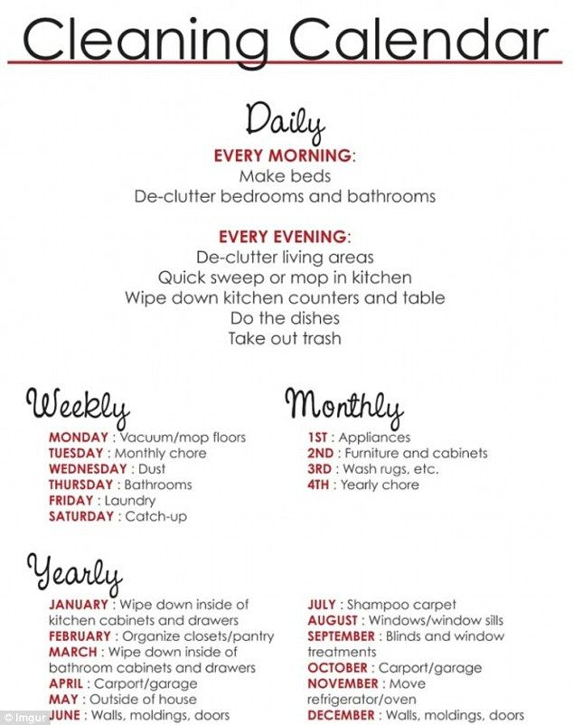 Best 25+ Cleaning calendar ideas on Pinterest Lady vols schedule - sample cleaning schedule template