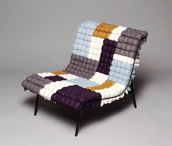 Modern Lounge Chair Inspired By Corncobs: The Mosaiik Lounge Chair By  Annika Goransson