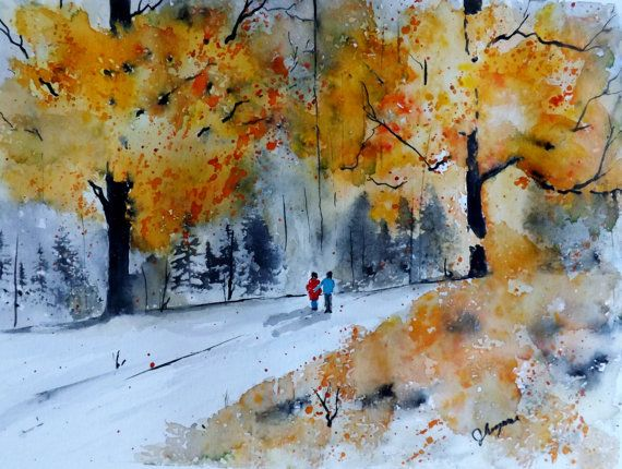 116 Best Images About Watercolor Fall Season On Pinterest