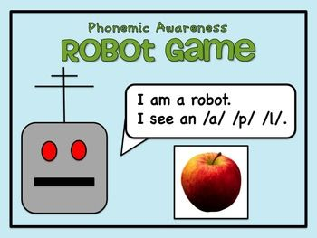 Phonemic Awareness Robot Game - Blending Sounds to Make Words. Versatile! Whole group, small group, transition time, morning meeting, end of day...you name it! $4