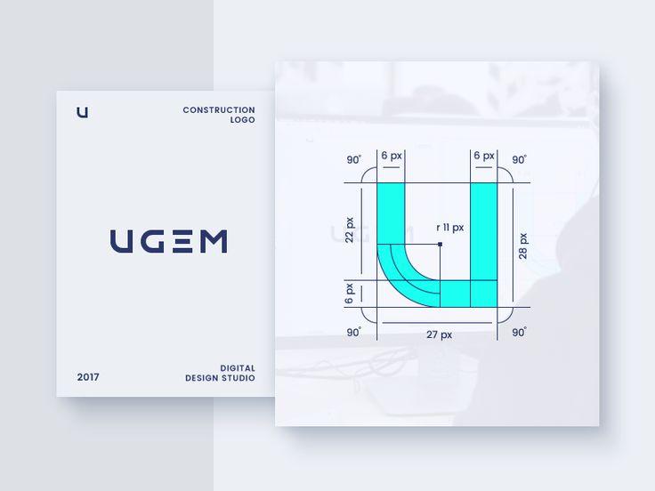 UGEM Logo Construction by ILDAR ALEKSANDROV
