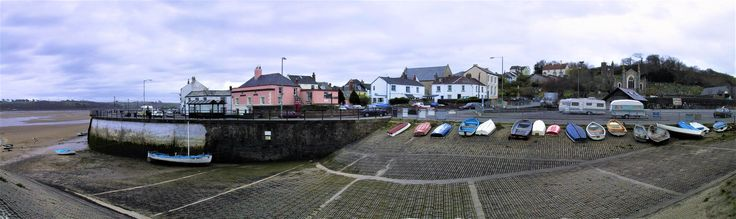 Appledore, Devon, UK.  My first house (well, owned by mum and dad!) was just around the corner to the left.  Photos taken with a sub-megapixel camera and joined together with sweat and grunt, no software being available.