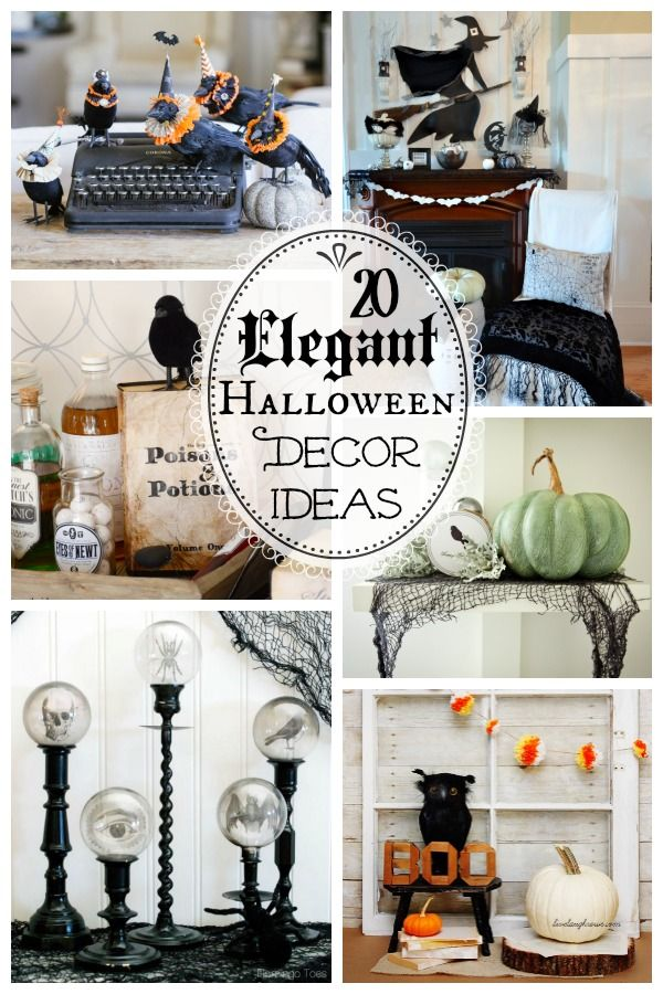 20 spooktacularly elegant diy halloween decor ideas diy halloween home decorhalloween decorationstheme halloweenhalloween stufffall