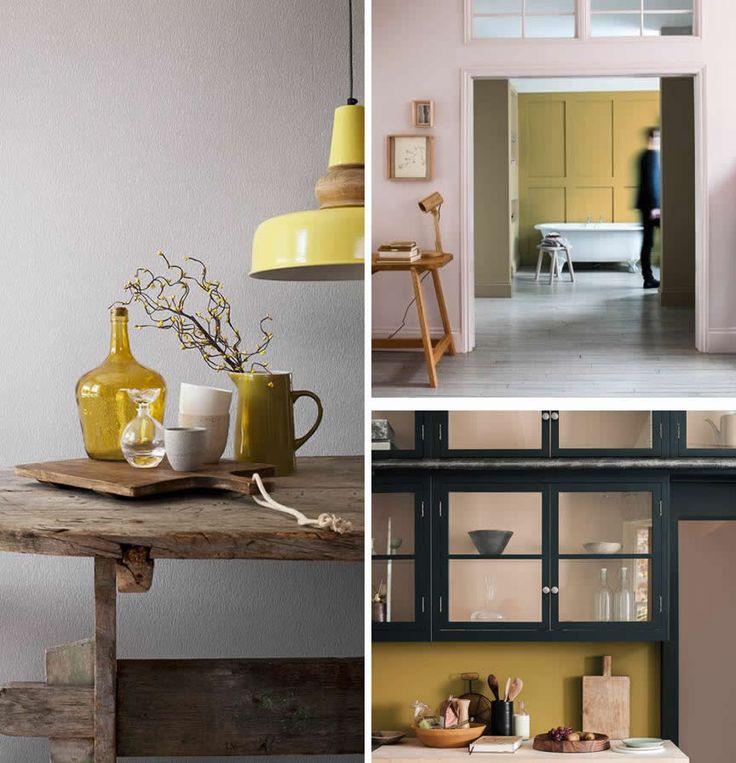 Dé kleur van het jaar: Okergoud. Geel, grijs, zacht roze en mint. Extra kamer