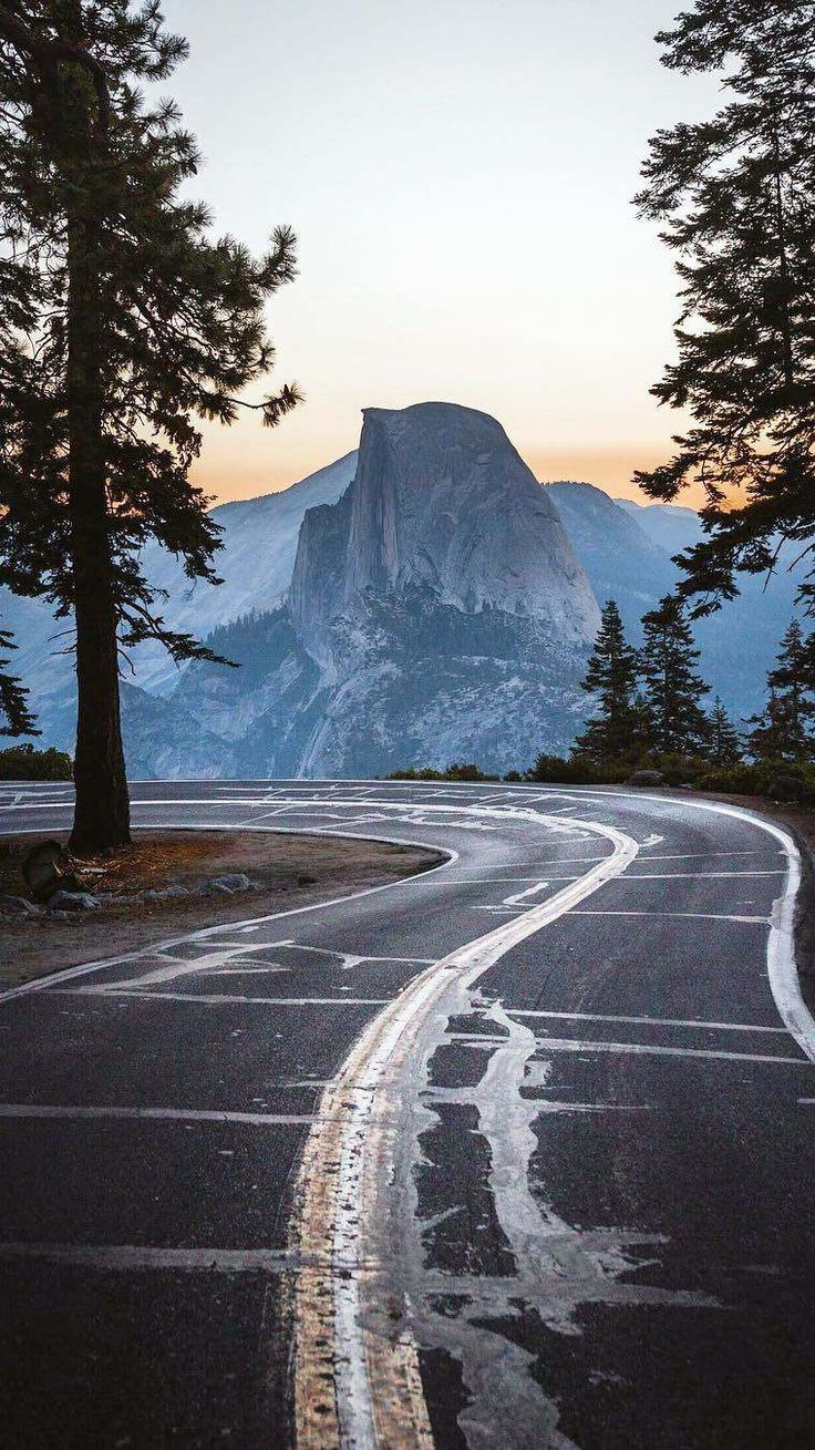 Yosemite Road Morning Nature iPhone Wallpaper Scenic