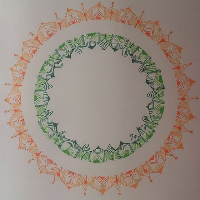 Happy Republic Day, India!!! Mandala art in tricolour!  #art #artwork #mandala #mandalaart #tricolor #india #republicday #26jan #patterns #lineart #penart #handdrawn #colour #mystaedtler #fineliner #intricateart #artist #artistsoninstagram #mandalaartist #arts_gallery #WorldofArtists
