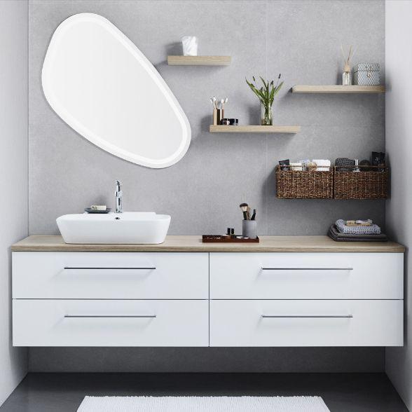 badmöbel set mit spiegelschrankdeko fürs bad | huboonline, Hause ideen