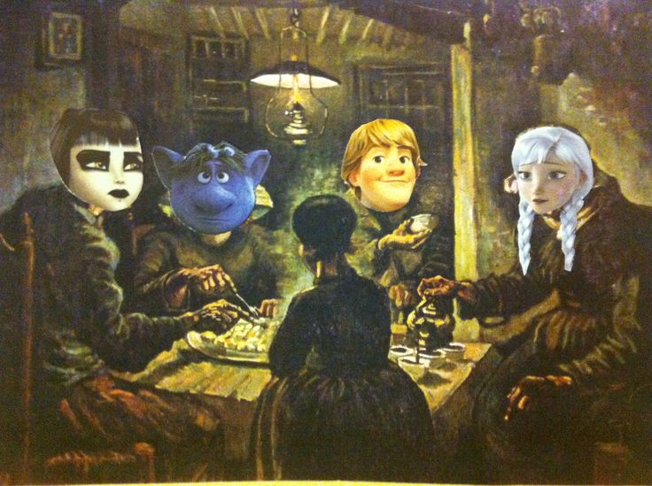 8 best Art Parody: The Potato Eaters images on Pinterest ...