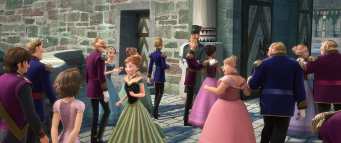Did you spot these hidden gems in Frozen? (Hint: there's one in the bottom left-hand corner of this image.)