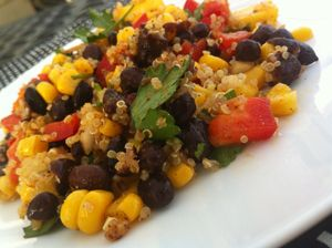 Bean, Quinoa and Mango Medley and a Q with Dietitian Sharon Palmer.