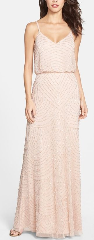 Embellished gown in blush by Adrianna Papell http://rstyle.me/n/vgaynn2bn