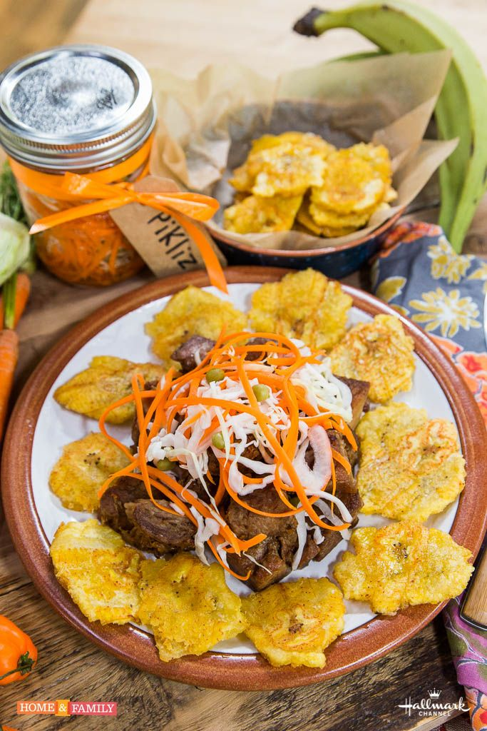 Griot tacos haitian pikliz fried plaintains thanks to for Banane plantain au barbecue