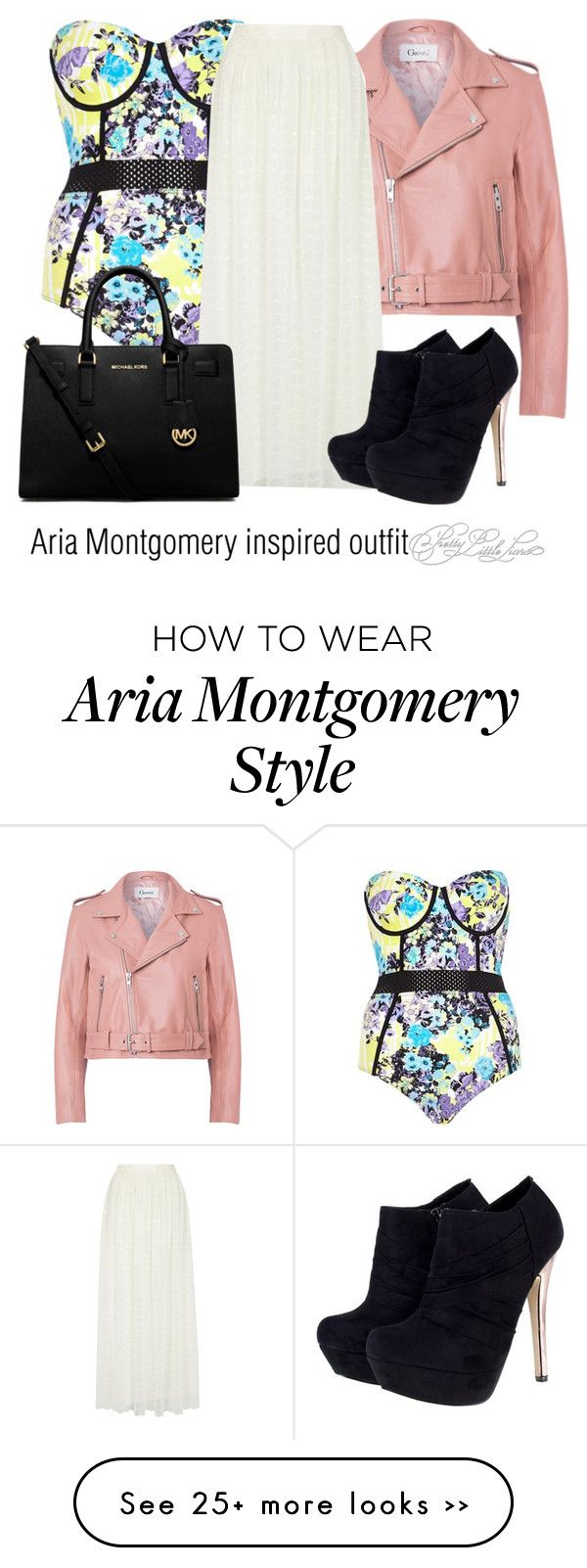 """Aria Montgomery inspired outfit/PLL"" by tvdsarahmichele on Polyvore"