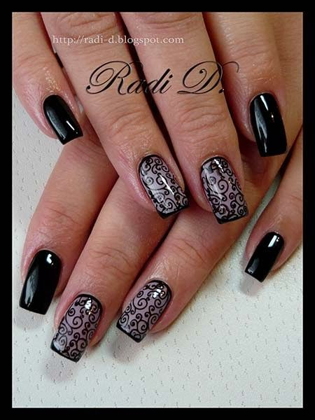 59 best nails plain and simple images on pinterest nail art its all about nails black swirls prinsesfo Image collections