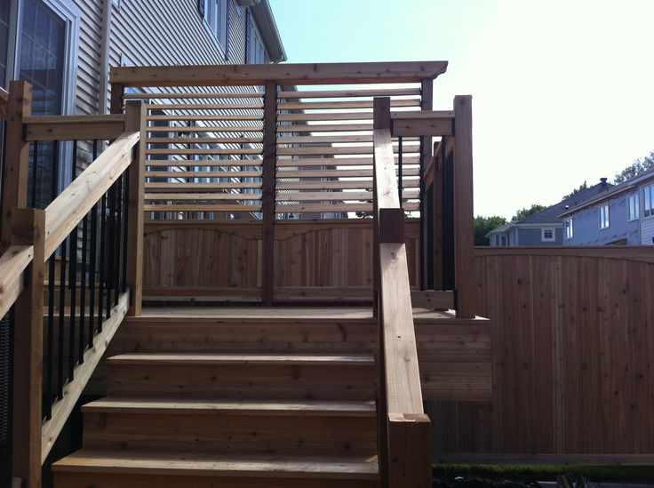 new deck with fantastic wood details