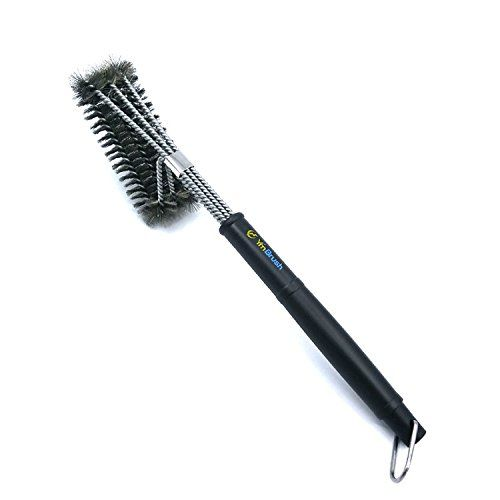 """Webat BBQ Grill Brush - 18""""- 3 Stainless Steel Brushes in 1 - Heavy Duty Barbecue Cleaner Tools, Perfect for Handle Weber Charcoal, Charbroil, Gas, Electric, Porcelain, Infrared Grills"""