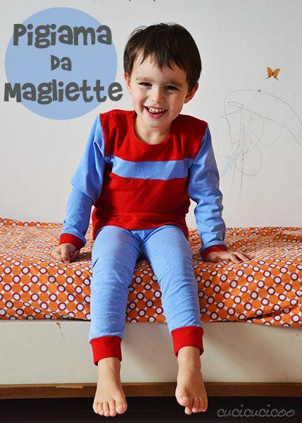Cucire pigiama da magliette:Riciclo creativo per bambini
