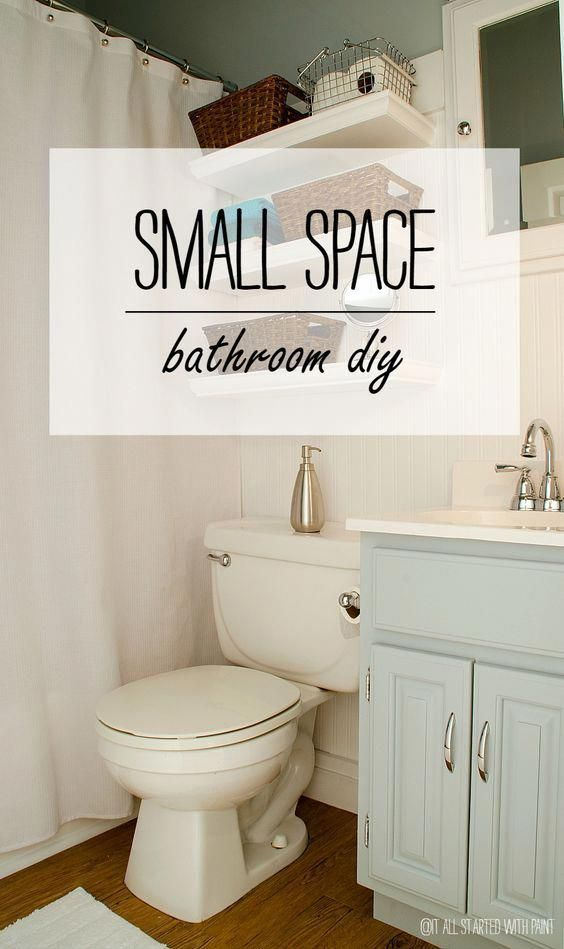 Maximize and Update a Small Builder Grade Bathroom with Paint, Beadboard Wallpap…   – Bathroom wallpaper