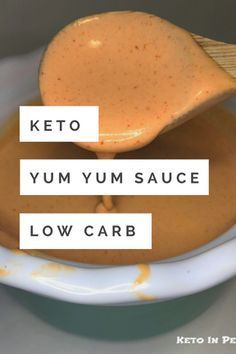 Hibachi style yum yum sauce made keto friendly, sugar free, and low carb. Only 2.8 net carbs per 2 tablespoons! Perfect for all your cauli fried rice!