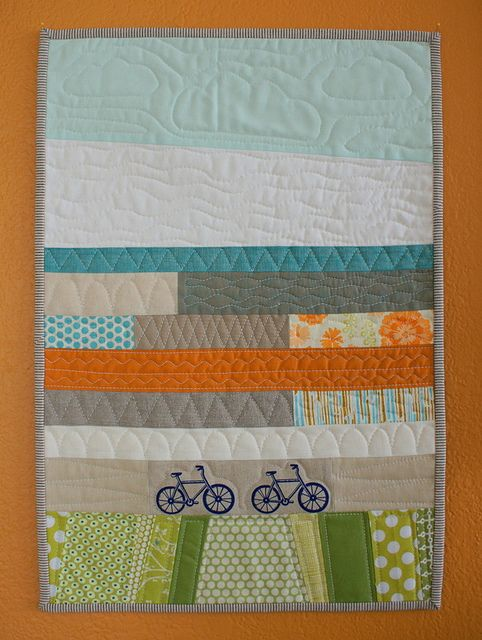 Bicycle Quilt I Think It 39 S A Baby Quilt But It Would Be Super Cute As The Focal Point In A