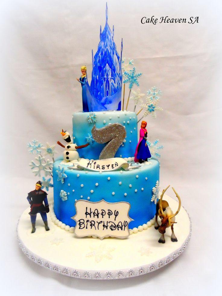 Frozen themed 2 tier.  (Original design is not mine)